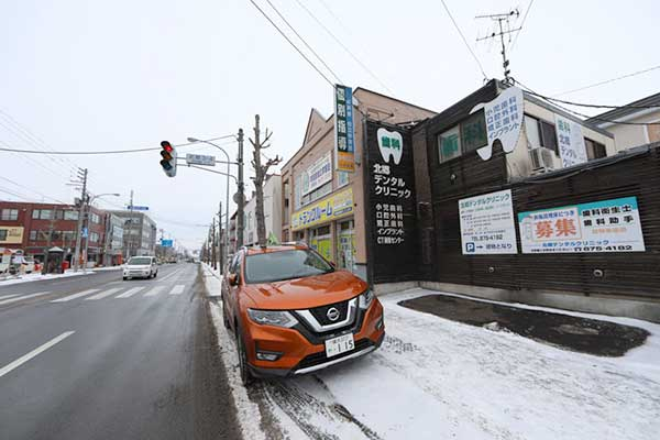 トランクルーム札幌北郷店 駐車スペース