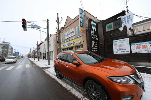 レンタルボックス札幌北郷店 駐車スペース