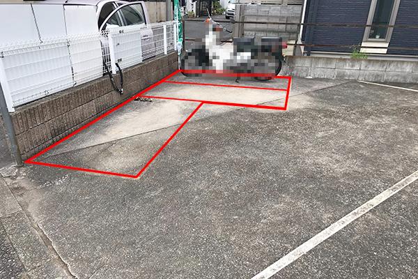 東寺尾北台バイク駐車場 ライン型